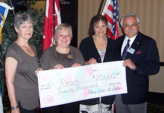 Rotary Club of Ladner donates $20,000 to REACH