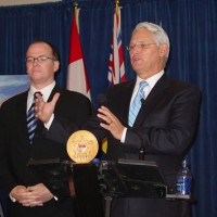 Kevin Falcon with Gordon Campbell